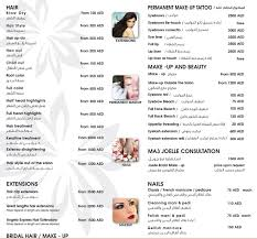 Hair Salon Price List Template Free Beauty Salons In Uae Services Price Lists