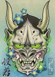 hannya mask samurai tattoo hannya mask by tylerrthemesmer d6i81s4 jpg 754 1060 tattoos
