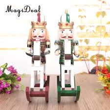 online shop magideal maroon wooden nutcracker on a rocking horse