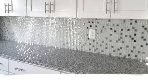 MODERN White Glass Metal Kitchen Backsplash Tile Backsplashcom - White glass backsplash tile