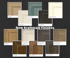 kraftmaid kitchen cabinet door styles kraftmaid cabinetry s newest paint colors and finishes are