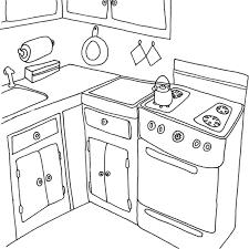 dessins de cuisine cuisine 31 bâtiments et architecture coloriages à imprimer