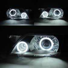 premacy premacy 2003 2004 03 04 ccfl angel eye projector headlight black