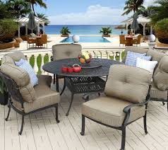 Round Table Patio Dining Sets - elisabeth 5pc deep seating 4 persons dining set with curved sofas