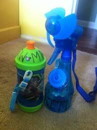 water bottle misting fan spray water bottle misting fan green beach pinterest