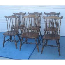 early american temple stuart windsor chairs set of 6 chairish