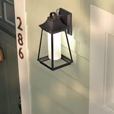 kichler outdoor lighting lowes shop kichler lighting hartford 15 in h led rubbed bronze outdoor