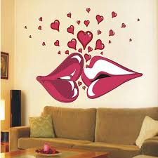 Wall Bedroom Stickers Large Lips Kiss Vinyl Wall Stickers Wall Decorations Living