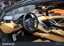lamborghini aventador interior geneva mar 1 interior new lamborghini stock photo 72254821