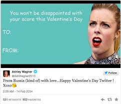 Ashley Wagner Meme - military brat and olympian ashley wagner tweets valentine s day card