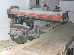 Craftsman Radial Arm Saw Table D G W Auctioneers U0026 Appraisers