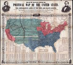 Map Of The United States During The Civil War by Westward Expansion And The American Civil War Us History Scene