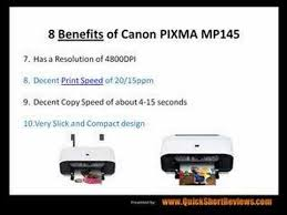 resetter printer mp 145 canon pixma mp145 review 8 benefits youtube