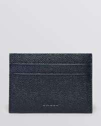 bally card holder with money clip in blue for lyst