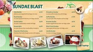 ice cream shop menu 10 items customizable digital signage template