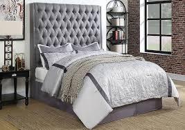 King Upholstered Platform Bed Showcase Furniture Mt Fl Gray California King