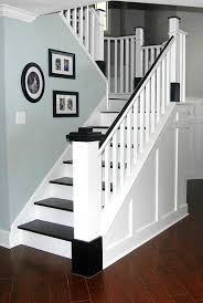 Best Paint For Stair Banisters Painted Wood Stair Remodel Painted Wood Stairs Wood Stairs And