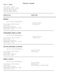 Beginner Acting Resume Template 100 Beginner Actor Resume Musical Theater Resume Beginner