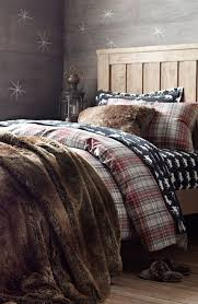 lodge plaid flannel bedding for winter