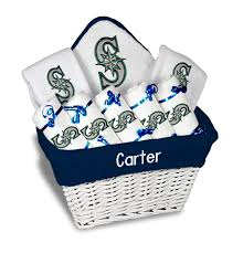 Seattle Gift Baskets Personalized Seattle Mariners Large Gift Basket Mlb Baby Gift