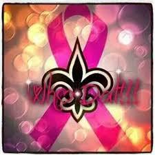 saints ribbon saints fleur de lis breast cancer awareness my new orleans