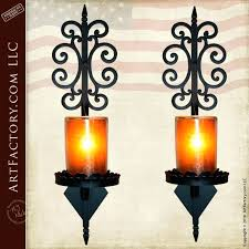 Wrought Iron Candle Wall Sconces Sconce Italian Ballaster Candleholder Set A Provincial Iron Wall