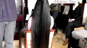 very long hair cut youtube