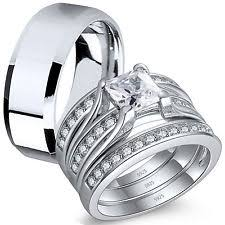 Wedding Rings Sets His And Hers by His And Hers Wedding Bands Ebay