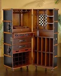 Hide A Bar Cabinet With The Classic Good Looks Of A British Steamer Trunk The