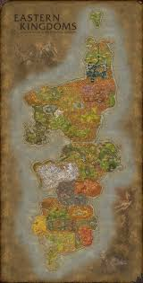 World Of Warcraft Map World Of Warcraft Eastern Kingdoms Map Fanart By