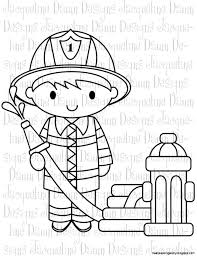 fire fighter clip art black and white wallpapers gallery