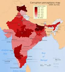 States Of India Map by File Corruption Perceptions Distribution In Indian States 2005 Map