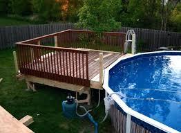 Above Ground Pool Design Ideas Pool Deck Ideas Concrete Above Ground Pool Deck Plans Attached To