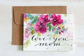 painting greeting cards in watercolor mothers day card unique envelope liner painted watercolor