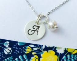 25 monogram necklace silver ideas on sterling