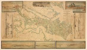 Map Of Williamsburg Va A Major Manuscript Map Of The Southern Virginia Peninsula Rare