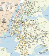Subway Nyc Map Metro Map Of New York Johomaps