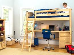 full size bed with desk under the full size wooden loft bed full
