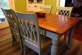 Refurbished Dining Room Tables A Blue Farmhouse Dining Table