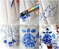 blue porcelain craft pumpkin and free printable