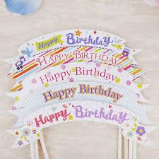 cake topper banner online shop happy birthday cake topper banner flag cupcake cake