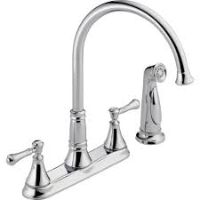 High Rise Kitchen Faucet by Delta Two Handle Kitchen Faucet Repair Descargas Mundiales Com