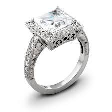 ladies vintage 18kt gold engagement ring 0 50 ctw g vs2