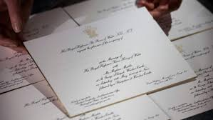 wedding invitations kitchener invitations sent out for prince harry s wedding to meghan markle
