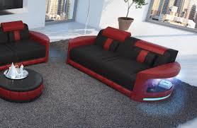 sofa mit beleuchtung 2 sitzer atlantis moderne preiswerte ledercouch nativo kaufen