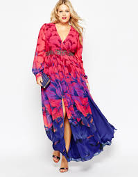 Flattering Plus Size Clothes Formal Night Anyone Little Mistress Plus Printed Maxi Dress