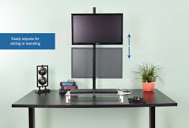 stand v011 single monitor extra tall desk mount u2013 vivous