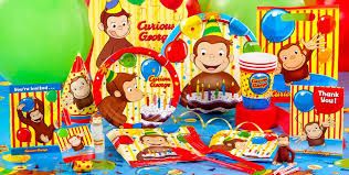 curious george birthday party ideas curious george party supplies curious george birthday party city
