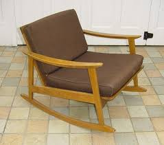 Midcentury Modern Rocking Chair - danish mid century modern ole wanscher for france reserved mid