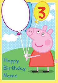 birthday card interesting peppa pig birthday cards printable